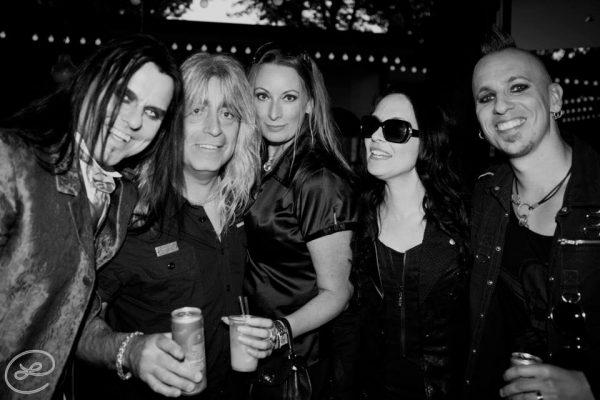 Me, Mikkey Dee, Mikaela Fexe from Blue Lemon Management, Lizette and Marqz at Rockbjörnen 2013.