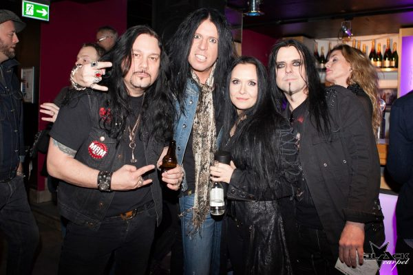 Thomas Mead from Machine Rock Magazine MRM, Yxan from Fatal Smile, Lizette and me from the greatest band in the world; Lizette &! :-)